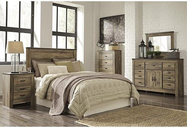 Rustic 2 Drawer Nightstand – Trinell Collection