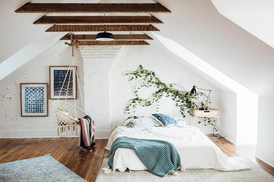 How To Decorate A Slanted Wall Bedroom